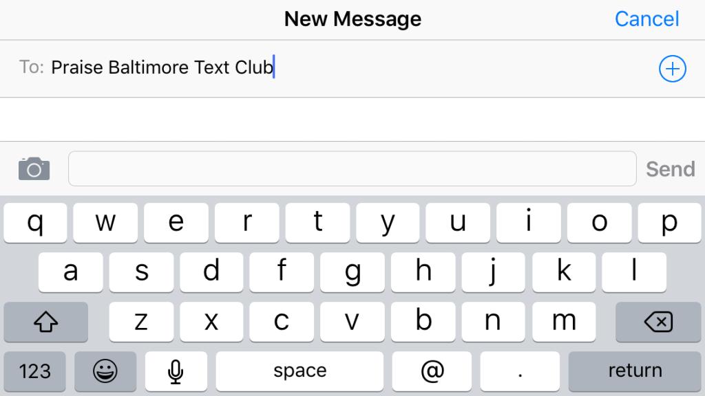 Praise SMS Text Club