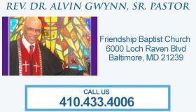 Rev. Dr. Alvin Gwynn, Sr. Pastor