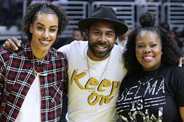 MAJOR & Amber Riley Perform at L.A. Sparks/Washington Mystics Game