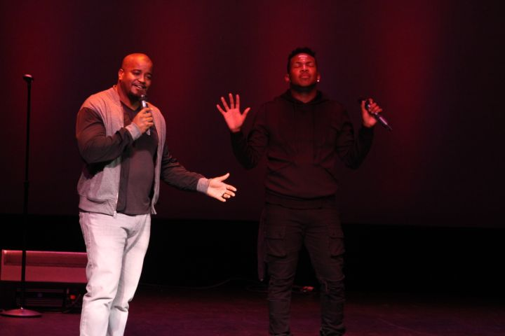 Jonathan Nelson joined Livre on stage to perform at track off their 'Jericho' album.