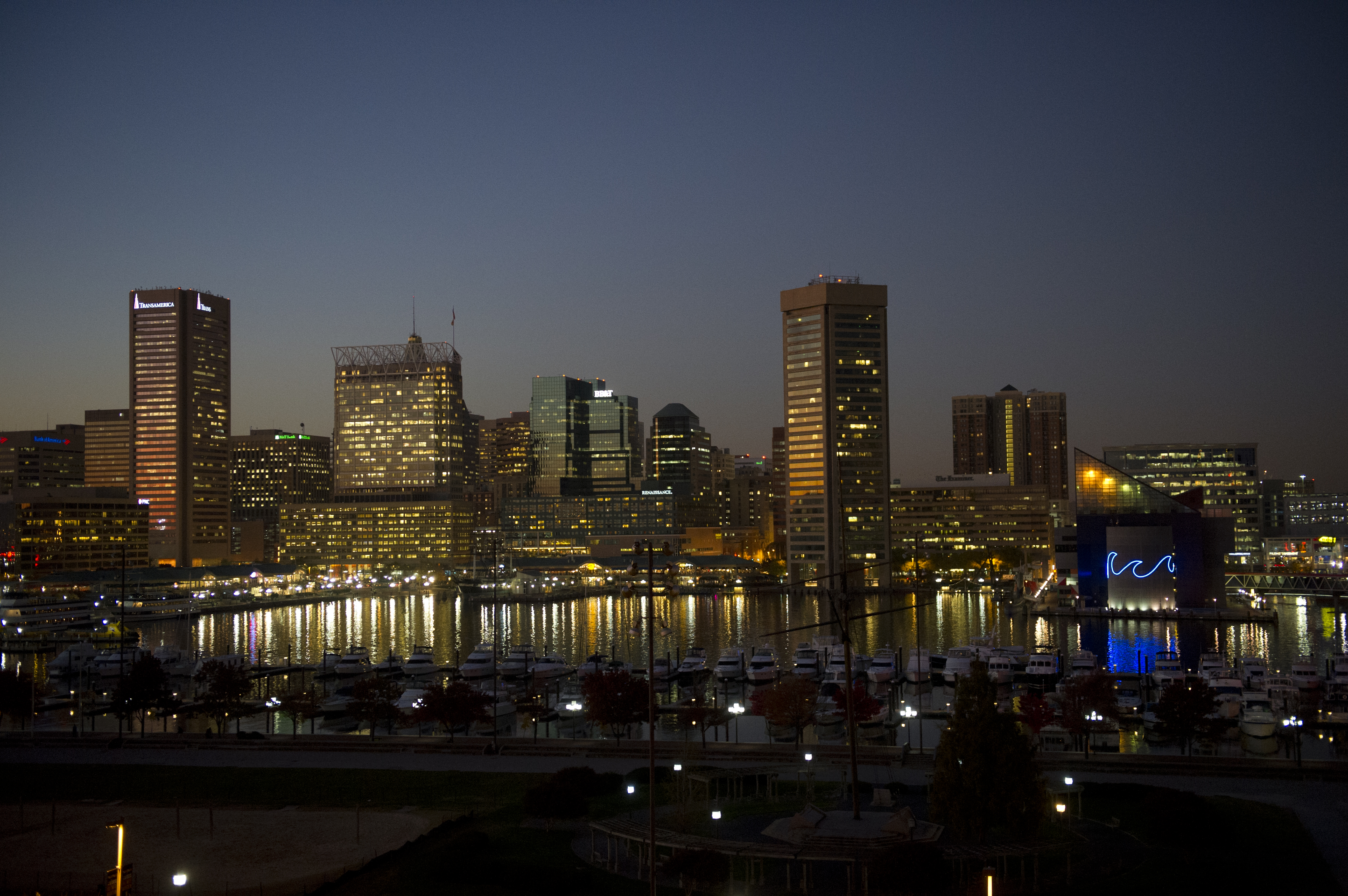 Baltimore City Maryland from Federal Hill