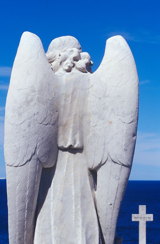 An angel headstone at a graveyard on 17 April 2004. AFR GENERIC Picture by JESS
