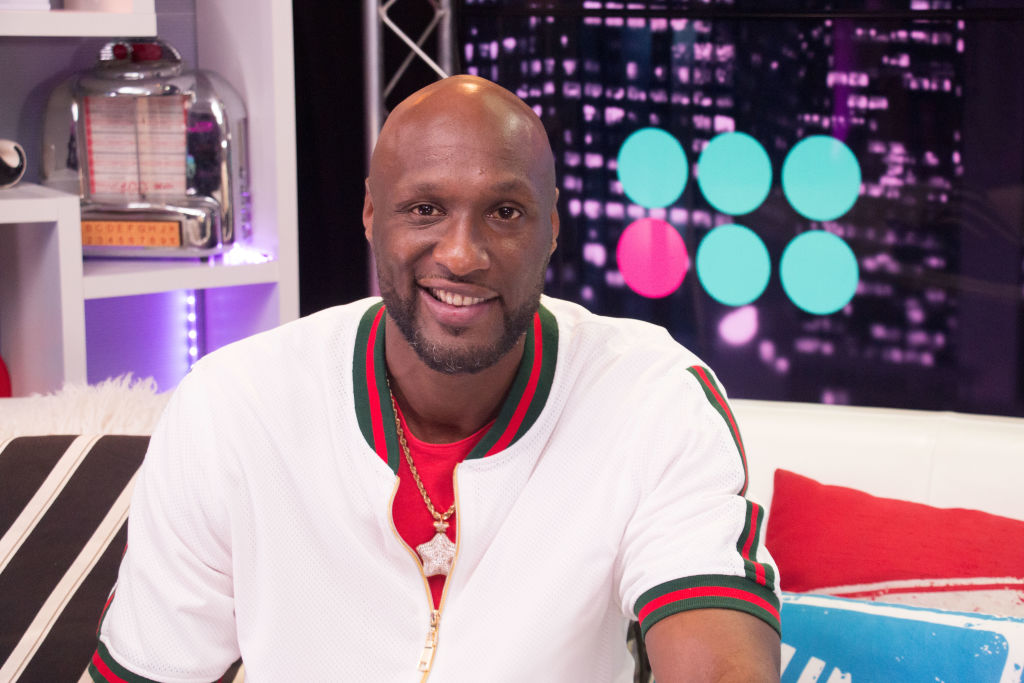 Lamar Odom Visits Young Hollywood Studio