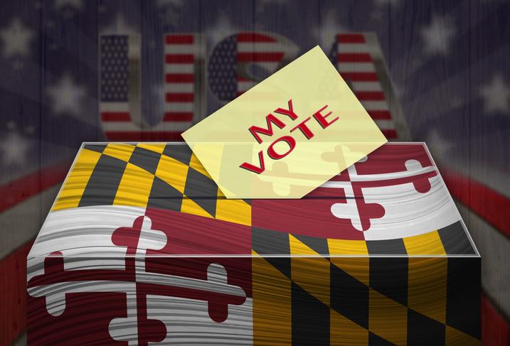 Ballot Box - Election in MARYLAND, USA