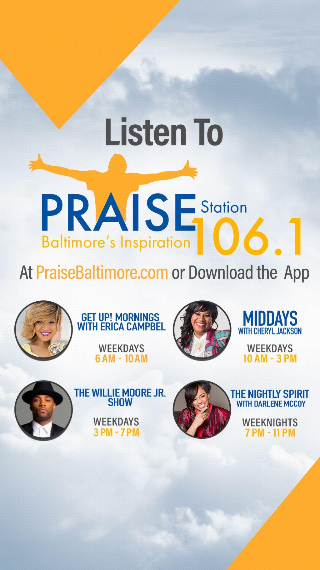 Praise 106.1 Show Schedule