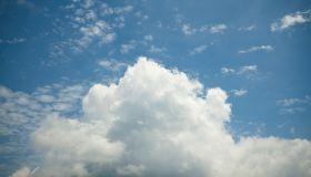 White Clouds in a Blue Sky in Summer