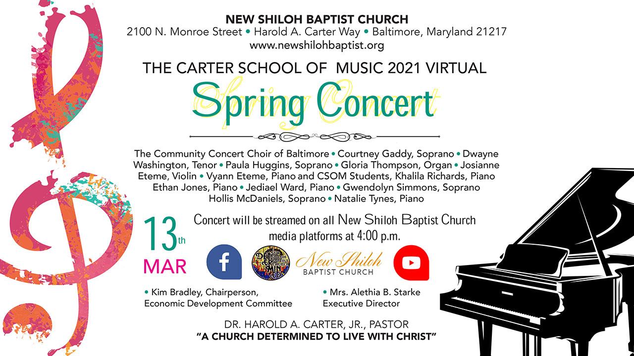 Carter School of Music 2021 Virtual Spring Concert