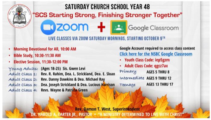 New Shiloh Baptist Church Zoom Saturday Church